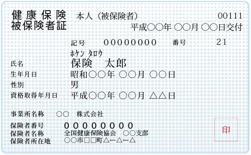 保険証(両面)